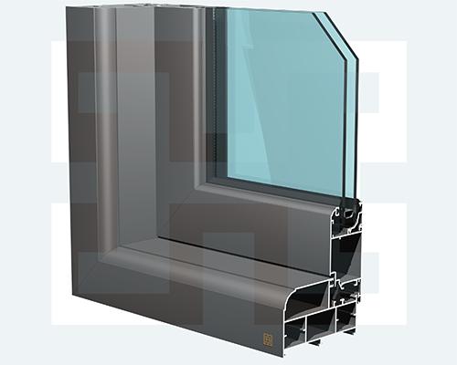 درب و پنجره نرمال لولایی H100